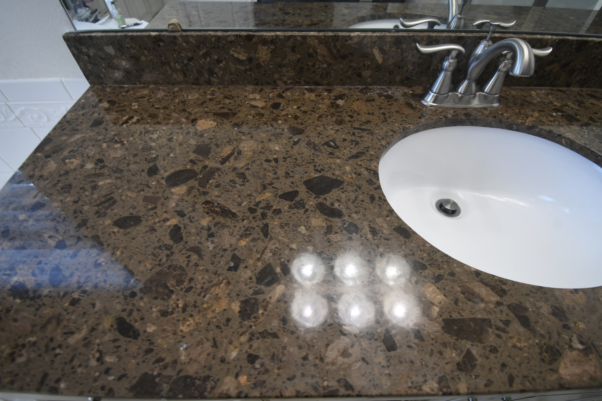 Marble Vanity Dull Spot After