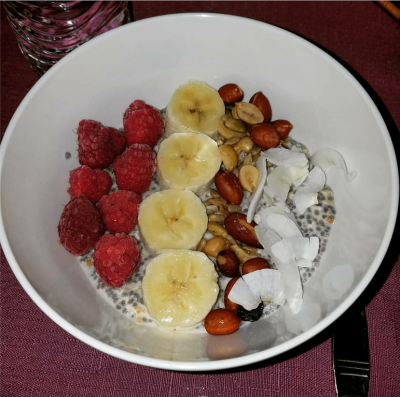 Chia Overnight Oat Breakfast Bowl