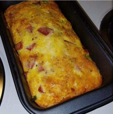Broccoli, Ham, & Cheese Breakfast Bake (For Two)