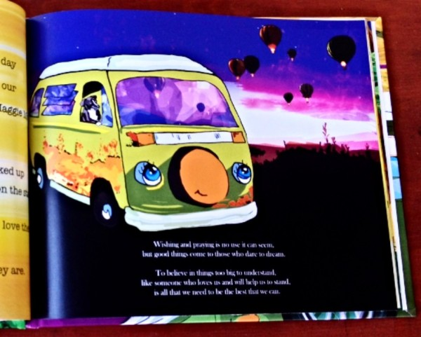 A page from The Adventures of Maggie May and Piccolo Too!