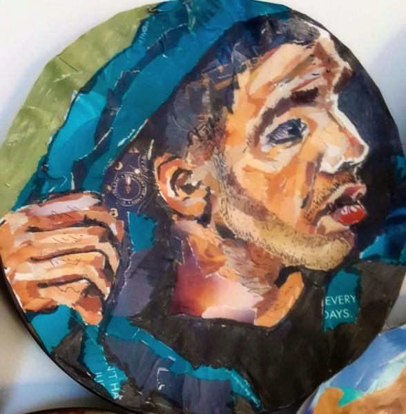 Drake, ripped magazine portrait