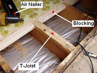T joist subfloor systems