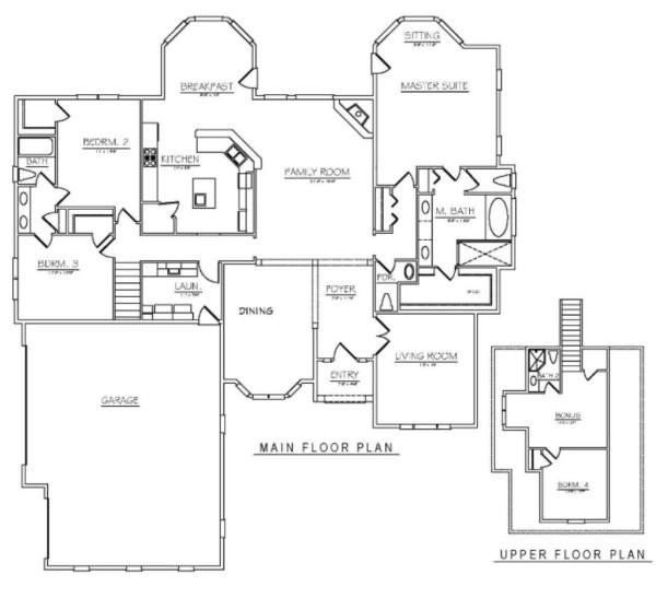 main floor and bonus
