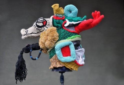 Itzamna Knitted Headdress