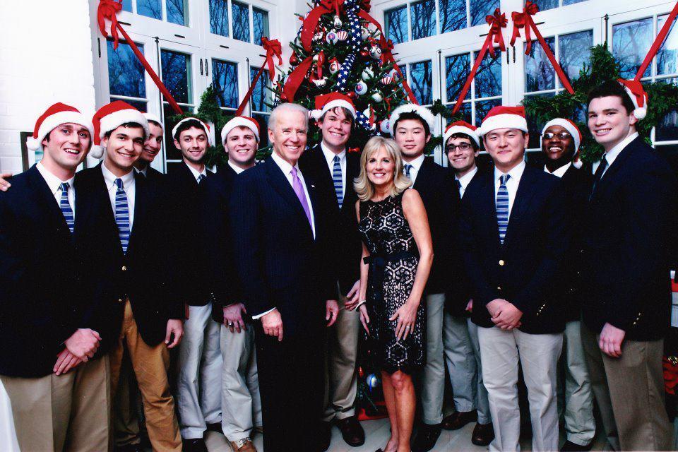 The Georgetown Chimes with Joe Biden and Jill Biden