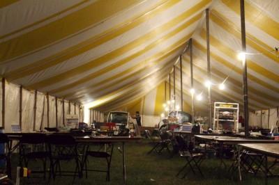 IGVC tent in Oakland University