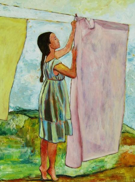 Washing Line 101 x 76 cm