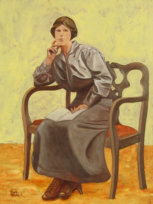 Woman on a Settee 91 x 76 cm