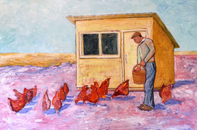 Chicken Feed 76 x 101 cm