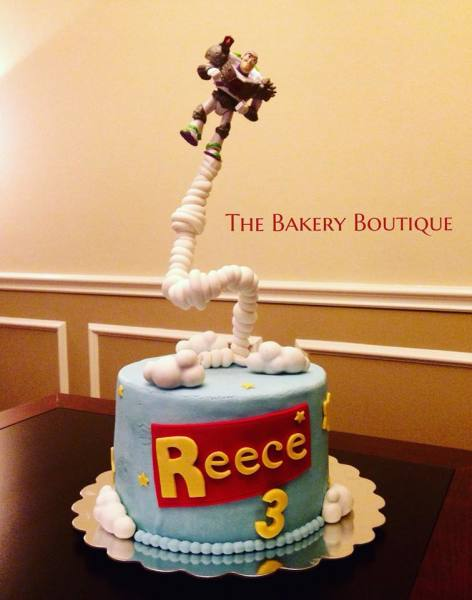 Toy Story gravity defying cake