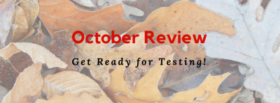 October Review Schedule