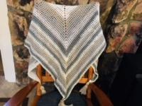 White and beige shawl