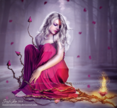 Today's beautiful art is by MoonRoseEternity and is featured with written permission.