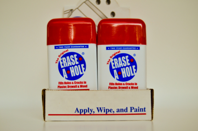 Erase-A-Hole Display on Store Shelves
