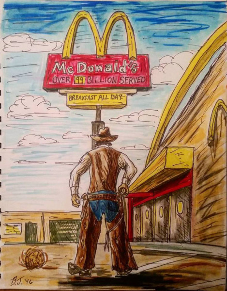 Gunslinger at McDonalds