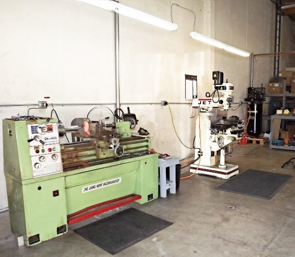 In-House Machining Room
