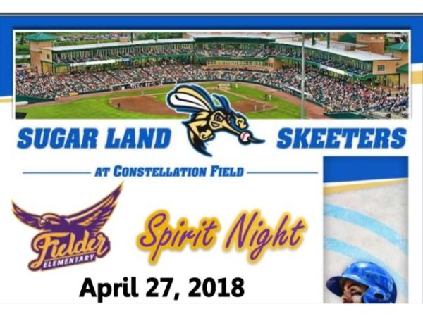 Spirit Night 4/27 Sugar Land Skeeters