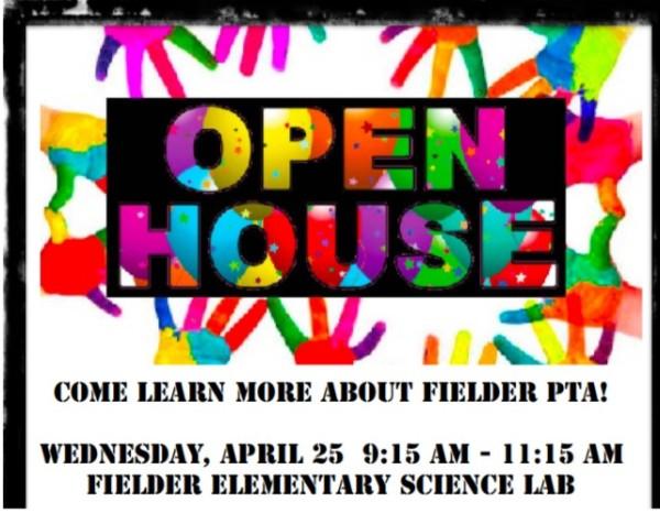 PTA OPEN HOUSE 4/25