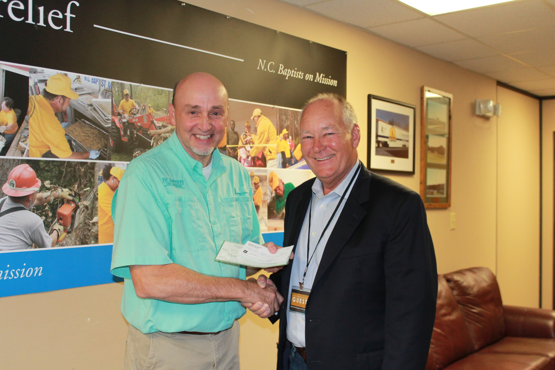 JFC Donates to the NC Baptist Mens Disaster Relief