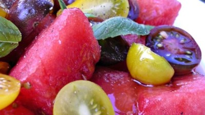 Spicy Watermelon Tomato Salad