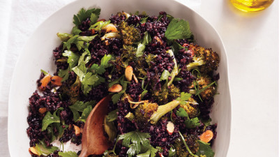 Broccoli and Black Rice Salad
