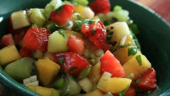 Spicy Strawberry Kiwi Peach Salsa