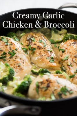 Creamy Garlic Chicken & Broccoli