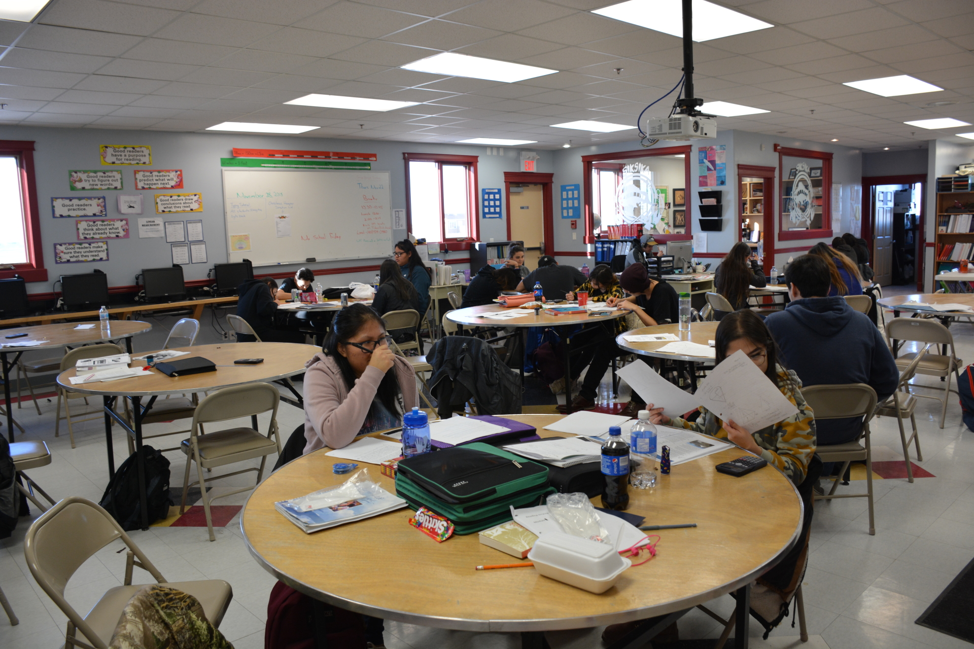 SOS students engaged in assignments