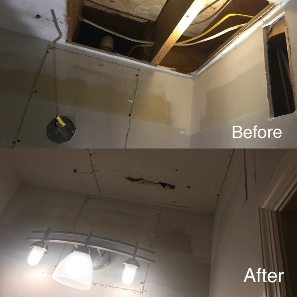 Light and Drywall Installation