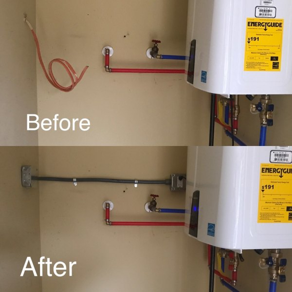 Water Heater Connection