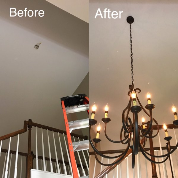 Chandelier Assembly and Installation