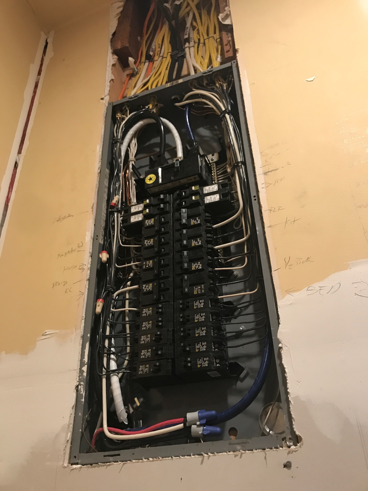 Kirkpatrick Homes - electrical wiring work after results