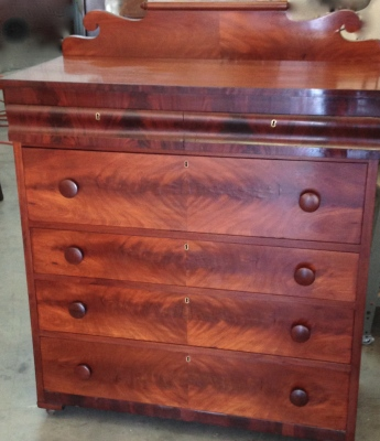 Restored Mahogany Dresser with French polished finish
