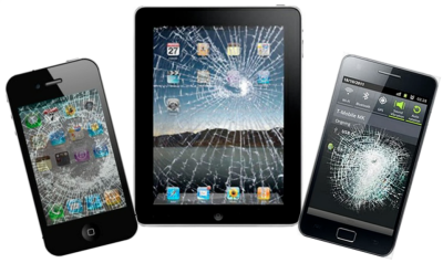 cracked screens on iphone ipad and samsung all in need of repair