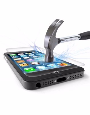 hammer hitting tempered glass screen protector