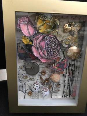 """Artography II"" Dimensional Shadow Box Collage"