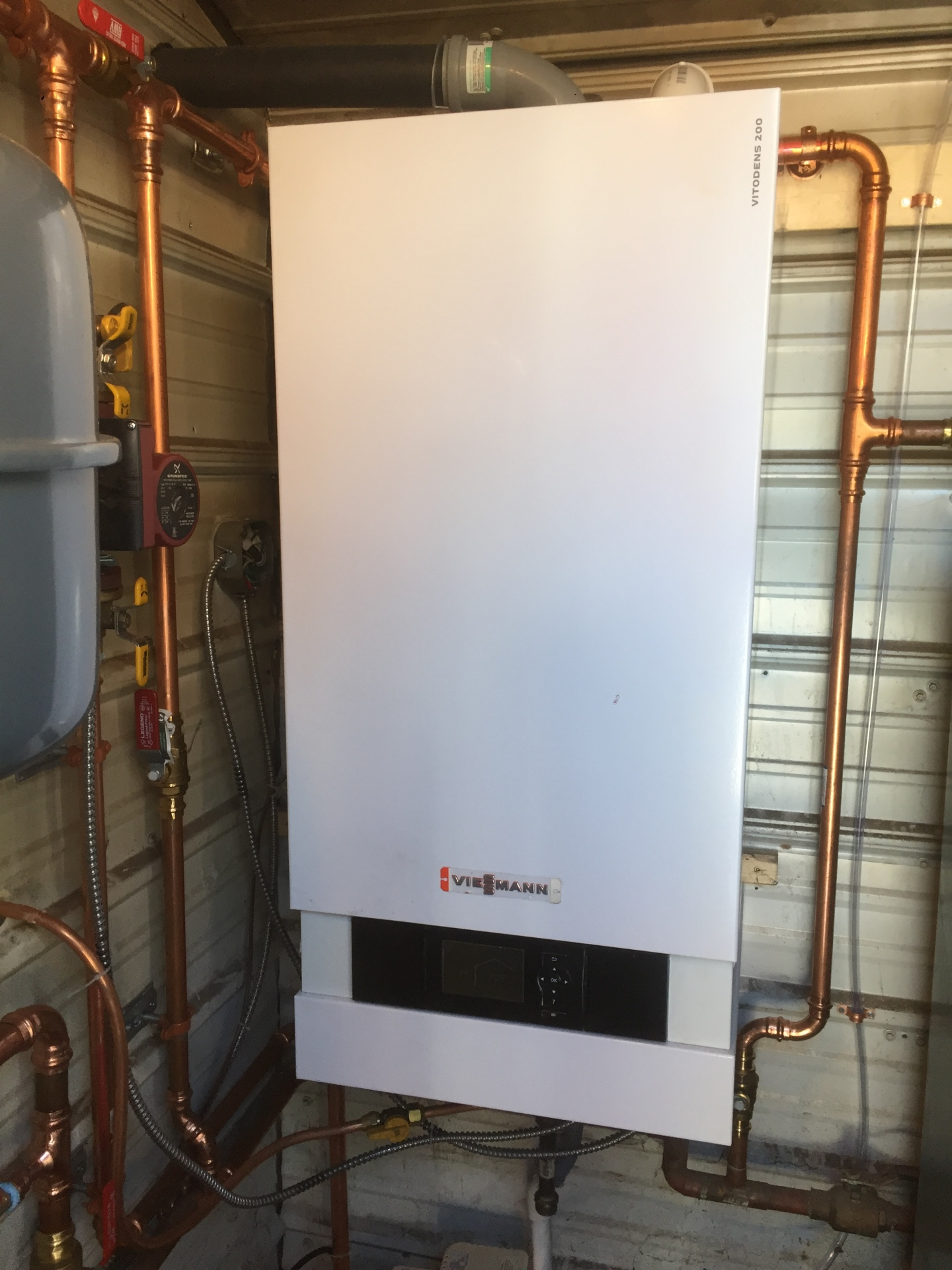 Viessmann Boiler for heating detached shop