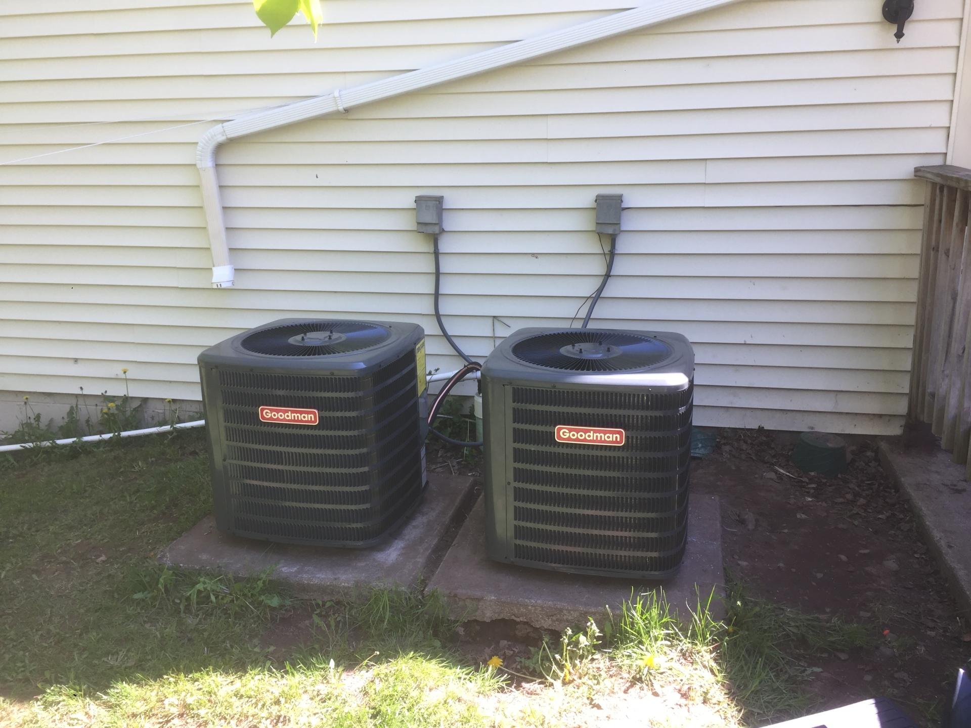 Dual Goodman AC unit upgrade