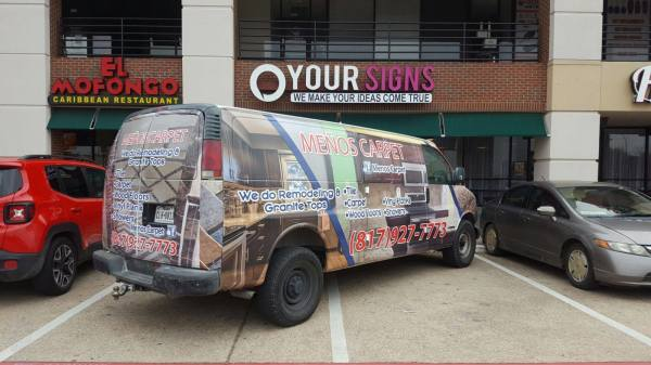 Meño's Carpet Van Wrap