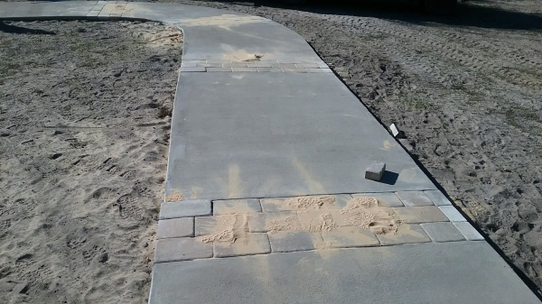 Sidewalk and pavers