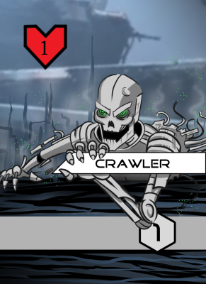 """Art for """"Crawler,"""" an enemy in the hunter deck"""