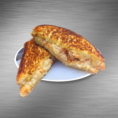 LOBSTER STUFFED GRILLED CHEESE
