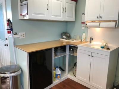 Whelping room kitchen