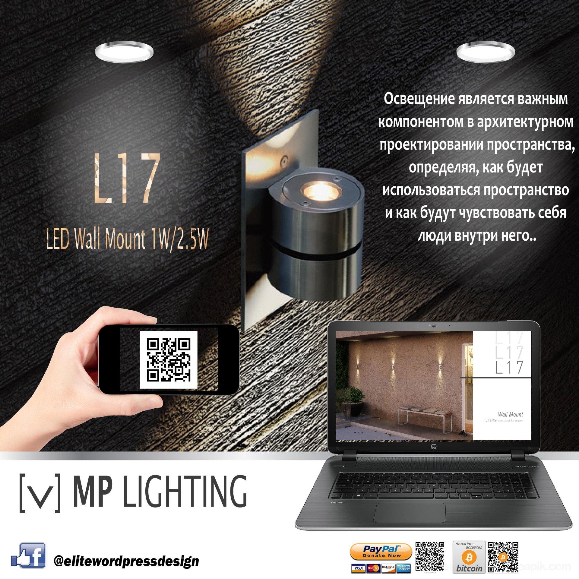 Wall mount LED lighting fixture