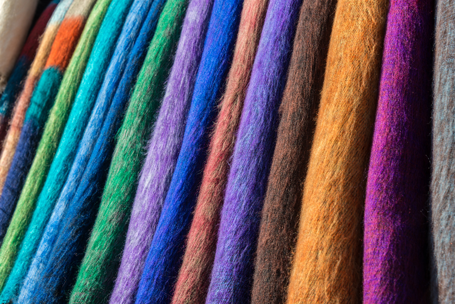 Bolts of Dyed Wool