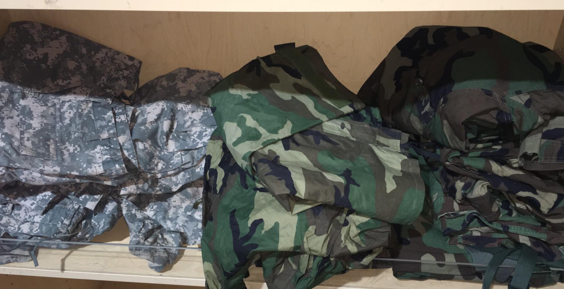 Camo shirts and pants
