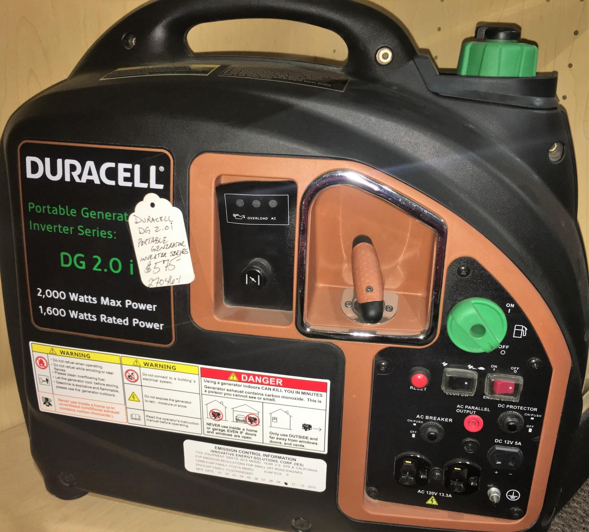 Duracell 2000w generator/inverter