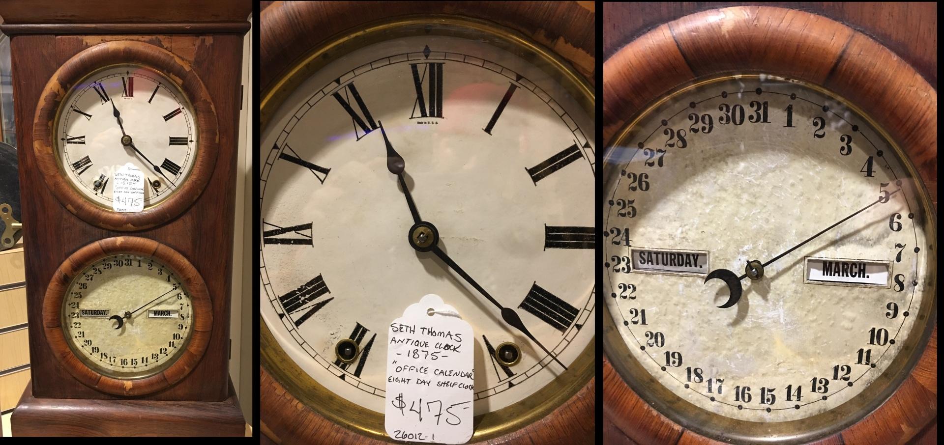 SETH THOMAS ANTIQUE CLOCK -1875-