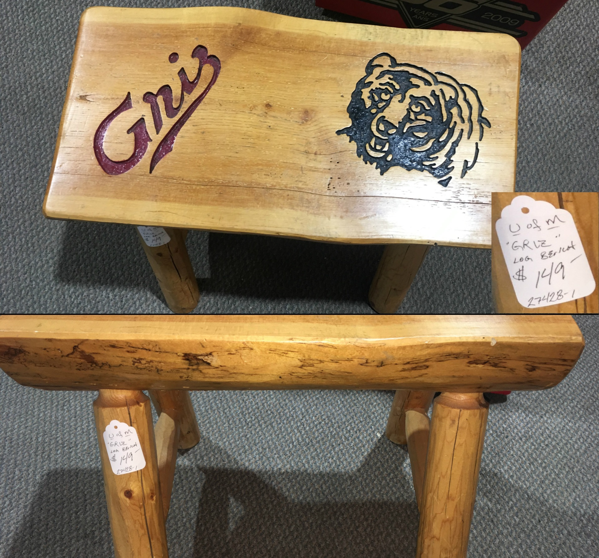 HANDCRAFTED GRIZ BENCH
