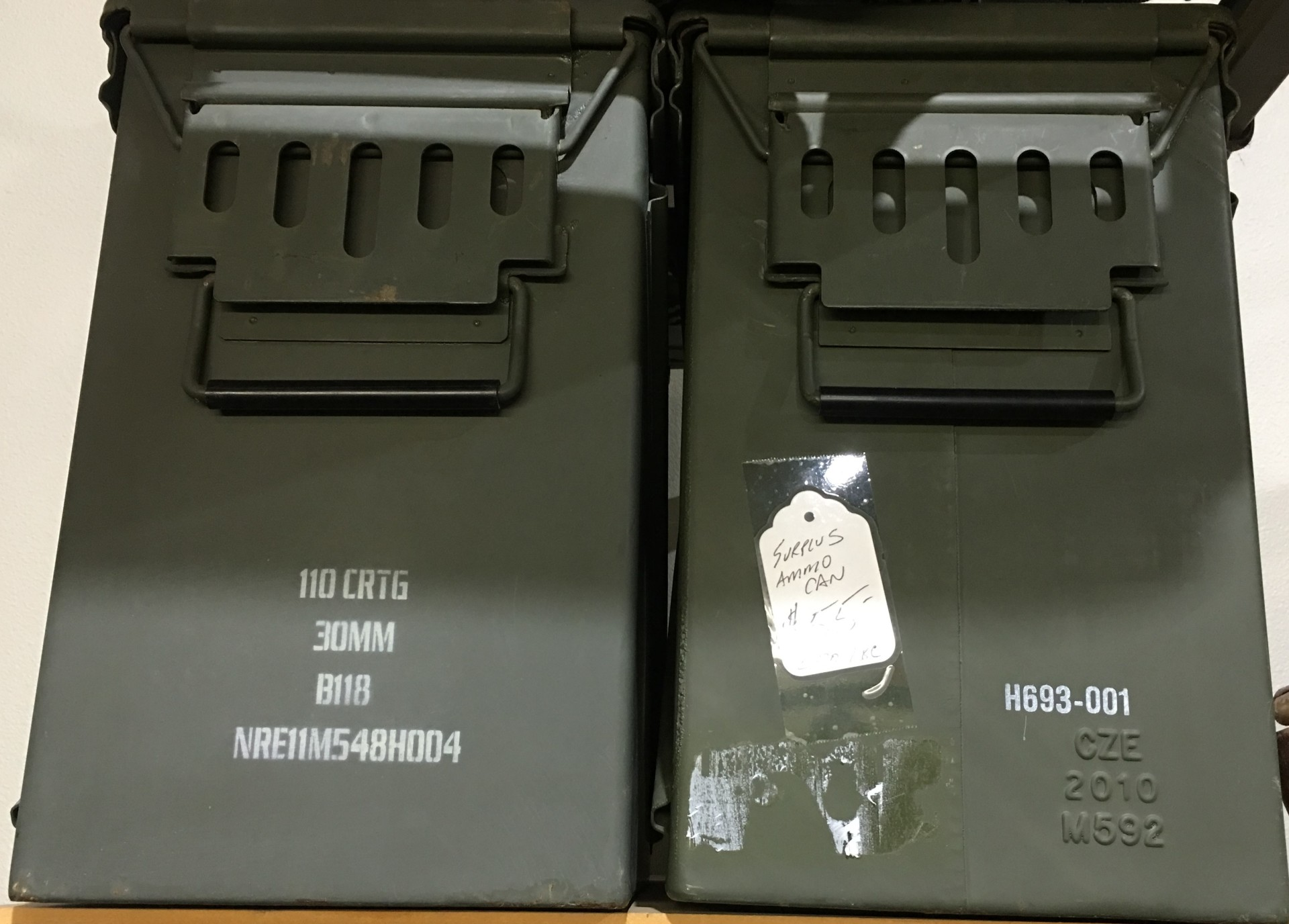 AMMO CANS OF ALL SIZES